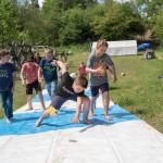 Jugendzeltlager Biberach - eine zirkusreife Rutschpartie